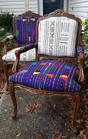 mudcloth chairs redone home decor pinterest chair redo