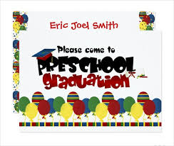 preschool graduation invitations 39 printable graduation invitations free premium templates