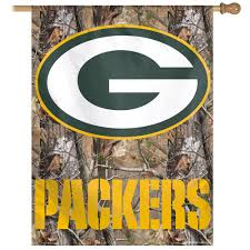 Green Bay Packers Flags Gb Packer Banner With Camo Background Fly Me Flag