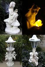 cherubs solar statues ornaments ebay
