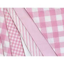 shades of pink cotton bunting by the cotton bunting company