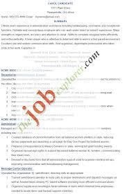 Resume Examples Administration Jobs by Resume Templates For Administration Job Free Resume Example And