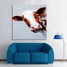 Cow Home Decor Decorative Handmade Painting On Canvas Stupid Cow Picture