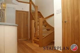 oak townsend staircase with glass balustrade