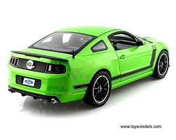 Green Mustang With Black Stripes 2013 Ford Mustang Boss 302 Hard Top Sc453gn 1 18 Scale Shelby