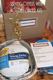 ways to serve others thanksgiving and dinner kits