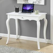 French Computer Desk by Southern Enterprises Crisp White 2 Drawer Laptop Writing Desk