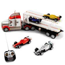 car carrier truck race car carrier 1 24 remote control semi truck toy set