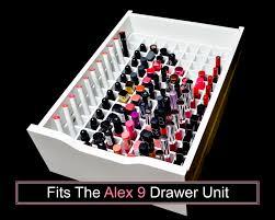 Knife And Fork Drawer Insert Lipstick Drawer Organizer Fits Alex 9 Drawer Unit Makeup