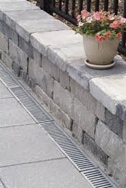 Drainage Patio Chapel Stone Wall In Northern Virginia With A Drainage System And