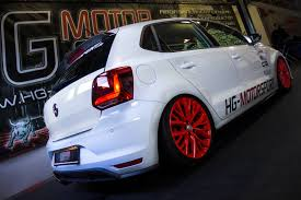 volkswagen polo black modified 2015 volkswagen polo gti tuned to 260 hp by hg motorsport
