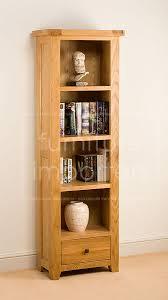 Narrow Bookcases Uk Lomo Oak Narrow Bookcase Oak Bookcases Furniture Importers