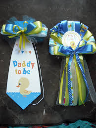 mommy and daddy baby shower corsage duck set mommy corsage and