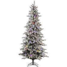 slim christmas tree with led colored lights vickerman co flocked london slim 7 5 white artificial christmas