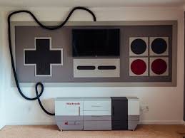 nintendo themed home theater a mom made for her kids photos