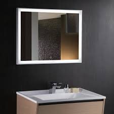 Demister Bathroom Mirrors by Kudos 90 Backlit Mirror With Demister And Touch Switch By Arcisan