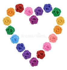 multicolor roses heart of multicolor roses stock photo image of abstract 17166144
