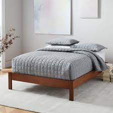 simple bed frame acorn west elm