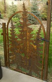 Metal Arbor With Gate Best 25 Metal Garden Gates Ideas That You Will Like On Pinterest