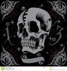 skull and roses frame stock vector illustration of broken 40919627