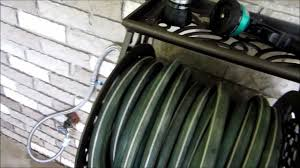 water hose reel wall mount installing a liberty garden 704 hose reel on a brick wall youtube