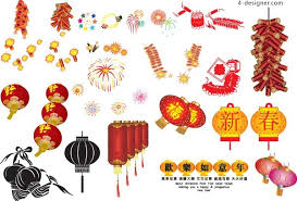 lanterns fireworks 4 designer new year fireworks lantern ai vector material