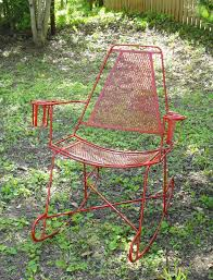 Patio Rocking Chairs Metal Metal Patio Rocking Chair Mid Century Modern Pinterest