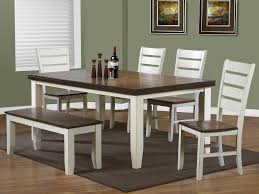 farmhouse table and chairs with bench kitchen dining room furniture the home depot canada