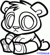 baby panda coloring page glum me