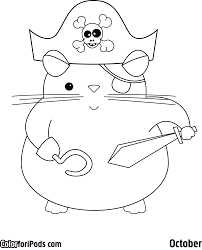 Cute Halloween Coloring Pages by Brilliant Hamster Coloring Pages With Hamster Coloring Pages
