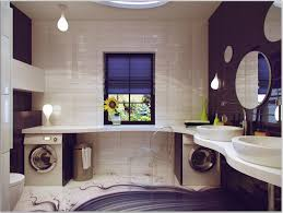 Decorating Bathrooms Ideas Romantic Interior Decoration Bathroom Idea With White Sink Black