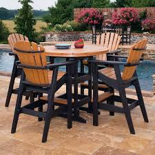impressive on bar height patio table and chairs bar height outdoor