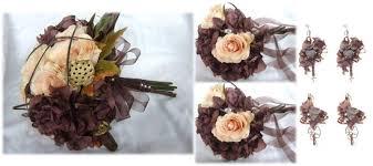 silk wedding flower packages brown gold wedding flower package silk wedding flowers