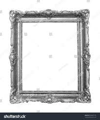 beautiful vintage silver color frame paintings stock photo