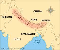 Nepal World Map World Map Himalayas Located Himalayas World Map World Map