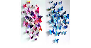 3D Butterfly Wall Art Decor Stickers Set of 12