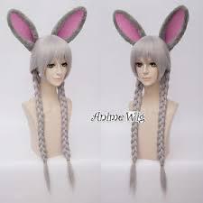 Judy Light For Bunny Judy Light Gray Long 80cm Braids Hopps Anime Cosplay Wig
