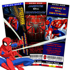 spiderman party invitations template best template collection
