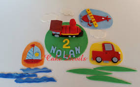 boat cake topper transportation fondant cake topper kit on the go fondant cake