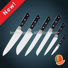 stainless steel kitchen knives set high carbon aus 8 7cr15mov stainless steel blade kitchen knife set
