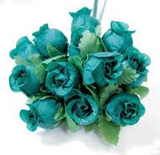 teal roses teal silk poly roses silk poly and ribbon roses floral