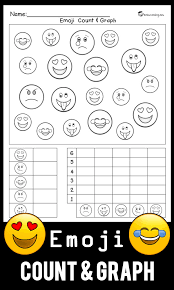 emoji count u0026 graph worksheet totschooling toddler preschool