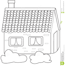 concrete house coloring page stock illustration image 54172165