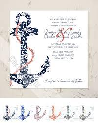 wedding invitation sle on sale navy and coral anchor wedding invitation 25pk the