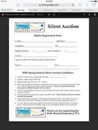 bid sheet sample tvp auction pinterest samples