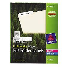 avery ecofriendly inkjetlaser file folder labels 23 x 3 716