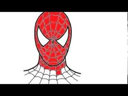 draw spiderman face step step easy slowly kid birthday