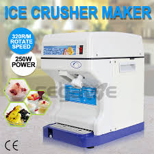 commercial ice shaver crusher shaving process snow cone maker