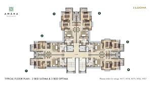 master plan floor plan u0026 unit plan 1 2 u0026 3 bhk flats at lodha