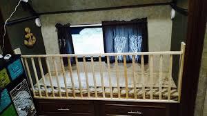 adding a crib railing to the bottom bunk in an rv bunkhouse rv